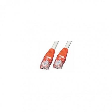 LINDY Câble réseau Patch croisé cat.6 U/UTP, gris avec prise rouge, 0,5m