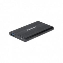 "DEXLAN Boitier Externe USB 3.0 Aluminium Noir pour HDD 2,5"" Interface SATA I / SATA II"