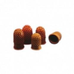 REXEL Pack de 10 Doigtiers Taille 00-17 mm Orange