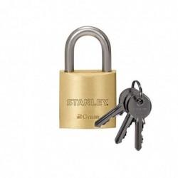 STANLEY Cadenas laiton solide 20 mm anse standard, 3 clés
