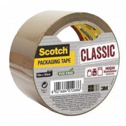 SCOTCH Ruban d'emballage Classic PP 41 mic 50 mm x L50 mètres havane