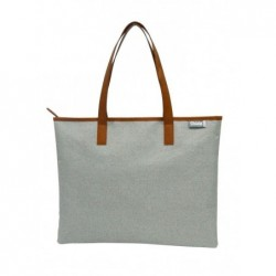 G.RIDE Sac shopping polyester 600D fermeture zip - taille 46 X 36 cm BEIGE