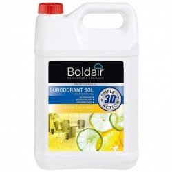 BOLDAIR Bidon 5 Litres 3D Surodorant sols détergent désodorisant désinfectant Jardin d'Agrumes
