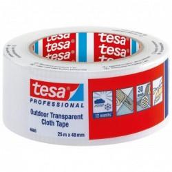 TESA Outdoor Gewebeband 4665, transparent, 48 mm x 25 m