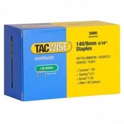 TACWISE Boite de 5000 Agrafes 140/8 mm, galvanisé