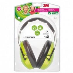 3M Peltor kid capsule protection auditive H510, vert néon / noir