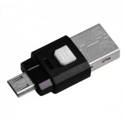 HAMA Lecteur USB 2.0 OTG de cartes mSD pour smartphone/tablette, noir