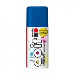 MARABU Peinture Aéorosol do it SATIN MATT 150 ml Bleu moyen