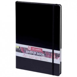 ROYAL TALENS Carnet de croquis art création 130 x 210 mm, noir, 80 feuilles
