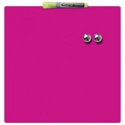QUARTET Tableau magnétique carré rose 360x360 mm