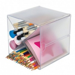 DEFLECTO Système Modulable Cube Séparation en X 4 compartiments 15,2 cm Transparent