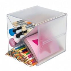 DEFLECTO Système modulable Cube séparation en X, 4 compartiments