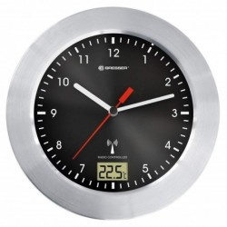BRESSER MyTime Bath noir Horloge de salle de bain
