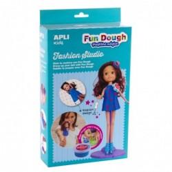 APLI Boite poupée brune à habiller en pâte Fun Dough
