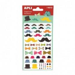 APLI Stickers accessoires rétro motifs assortis - 1 feuille