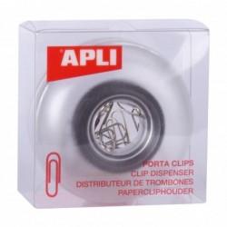 APLI Distributeur de trombones transparent