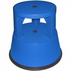SAFETOOL Tabouret plastique roulant 2 marches Charge maximum 150 kg Coloris bleu