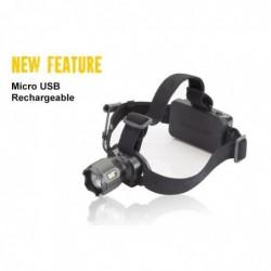CAT Lampe frontale Rechargeable 380 Lumens avec  faisceau concentré