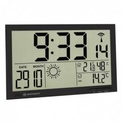 BRESSER MyTime Jumbo noir LCD station météo-horloge