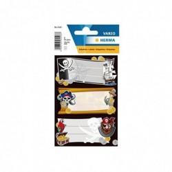 """HERMA Étiquettes pour livres """"Pirates"""" 76 x 35 mm 3 Planches de 3"""