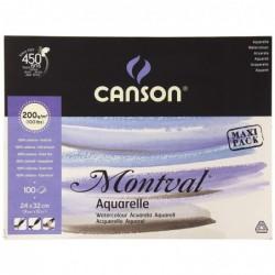 """CANSON Bloc 100 Feuilles Papier dessin """"Montval"""" 240 x 320 mm 200 g"""