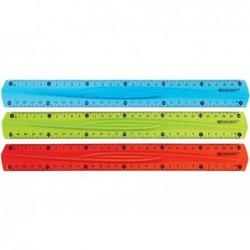 WESTCOTT Règle Plate Plastique Flexi 30 cm Incassable Coloris Aléatoire