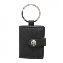 DEKNUDT Porte-clés noir cuir 3,5x4,5