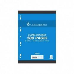 CONQUÉRANT Pqt Copies doubles A4 Seyes Grands Carreaux 70g 200 pages (50 Copies)