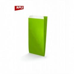 APLI-AGIPA Lot de 250 Sachets Cadeau 18x5,5x35 cm KRAFT VERT LIME
