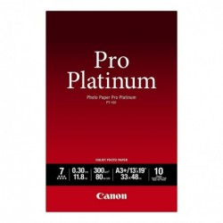 CANON Papier photo Pro Platinum 10 feuilles PT-101 A3+ 300g Brillant