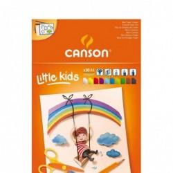 CANSON Bloc 30 Feuilles Papier Création Enfants 2 ans + Couleur A4 120 g Assortis