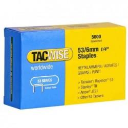 TACWISE Boite de 5000 Agrafes 53/6 mm, galvanisé