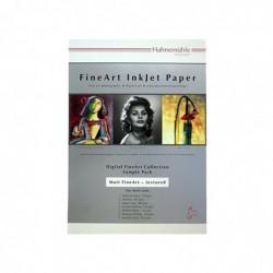 HAHNEMÜHLE Digital FineArt A4 14 Feuilles Echantillon de Papier mat&structuré