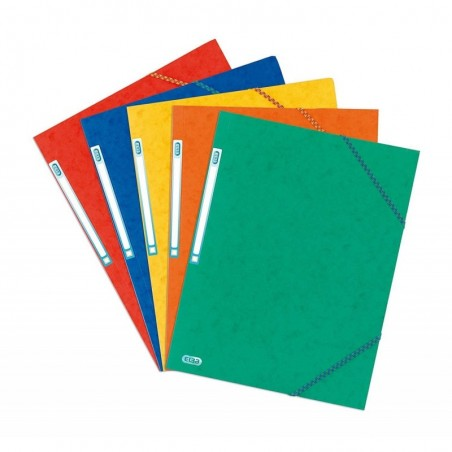 ELBA Chemise TOP FILE 3 rabats élastique Format A3 CL 7/10e Coloris Aléatoire