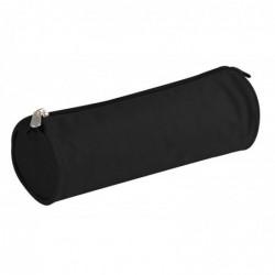 CLAIREFONTAINE Trousse ronde 7 x 22 cm Textile uni Noir