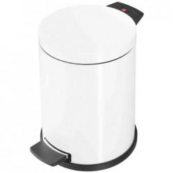 HAILO Poubelle à pédale ProfiLine Solid M, 12 litres, blanc