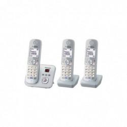 PANASONIC KX-TG6823GS Téléphone Sans Fil Base + 2 Combinés avec Répondeur Argent-perle