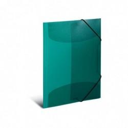 HERMA Chemise à élastiques, PP, A3, vert foncé translucide