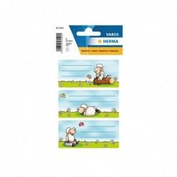 HERMA Etiquettes pour livres et Cahiers 76 x 35 mm, 3 Feuilles de 3  Motif Mouton