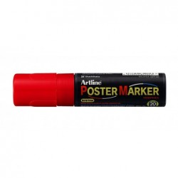 "ARTLINE Marqueur ""PosterMarker Tempera"" ""EPP20"" pointe carrée 20 mm rouge"