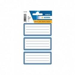 HERMA paquet de 18 étiquettes pour livre, 76 x 35 mm, bleu