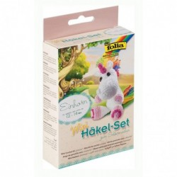 FOLIA Mini kit de crochet pour Fabriquer une Licorne Env 14cm
