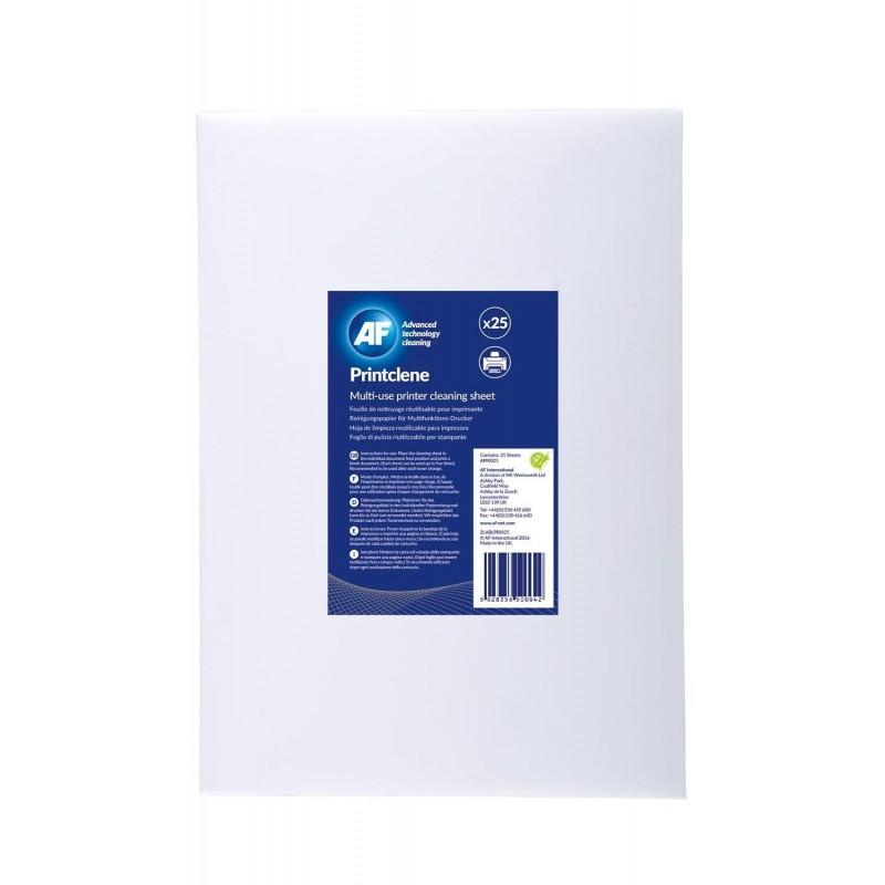 AF Printclene Lot de 25  feuilles de nettoyage pour fax et imprimantes