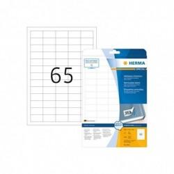 HERMA étiquettes SuperPrint, diamètre 10 mm, détachables, 25 feuilles A4