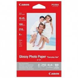 CANON Boite 100 feuilles Papier Photo Glacé Standard 10x15 cm 210g