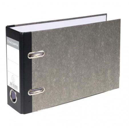 EXACOMPTA Classeur à levier en carton gris dos de 70mm format A5