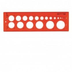 MINERVA Trace Cercles N°17 Impairs de 1 à 37 mm