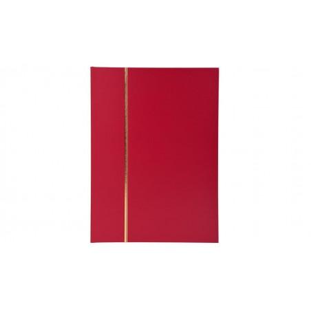 EXACOMPTA Album timbre 22,5 x16,5 mm Simili cuir Bordeaux 32p