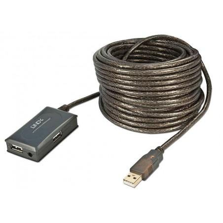 LINDY Hub USB 2.0 actif et déporté, 4 ports, 10m