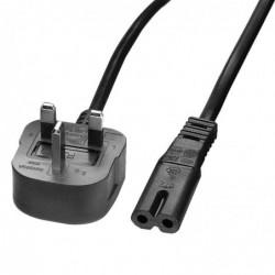 LINDY Câble secteur UK vers IEC C7, 2m